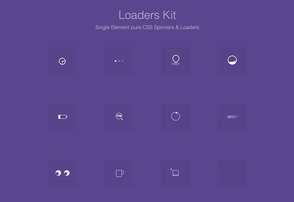 Pure CSS Loaders Kit