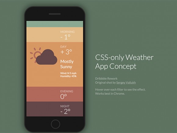 CSS Only Weather App Concept