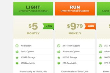 CSS3 Pricing Tables