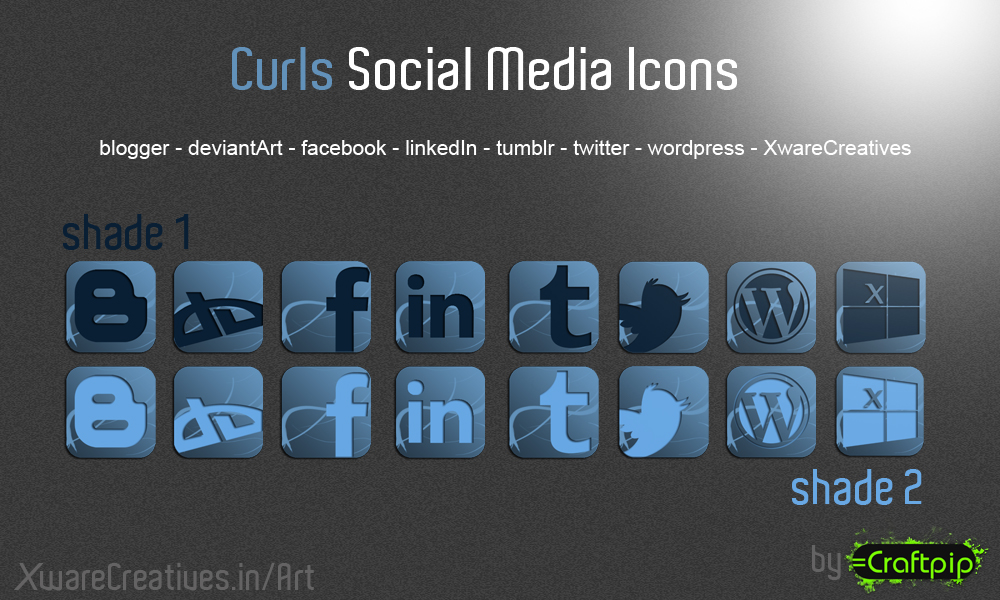 Curls Social Media Icons
