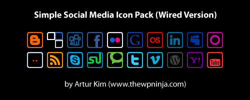 Wired Social Media Icon Pack