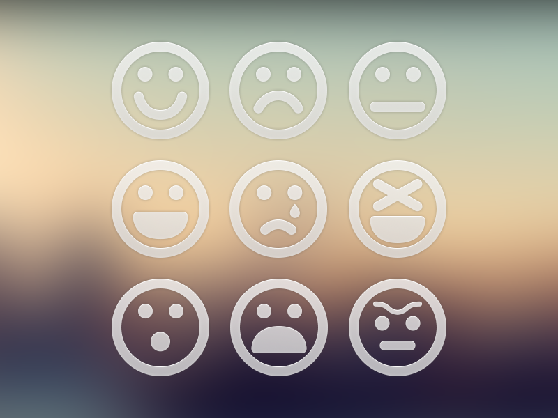 Download for Free 9 Big Emoticons in PSD