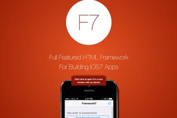 Framework7 for iOS7 Apps