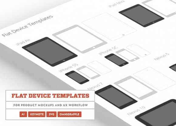 Flat Devices Templates in PSD