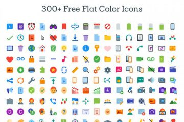300+ Flat Color Icons