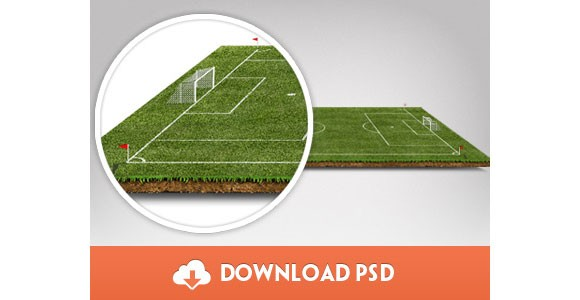 Football Pitch in PSD