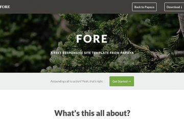 Fore HTML Website Template