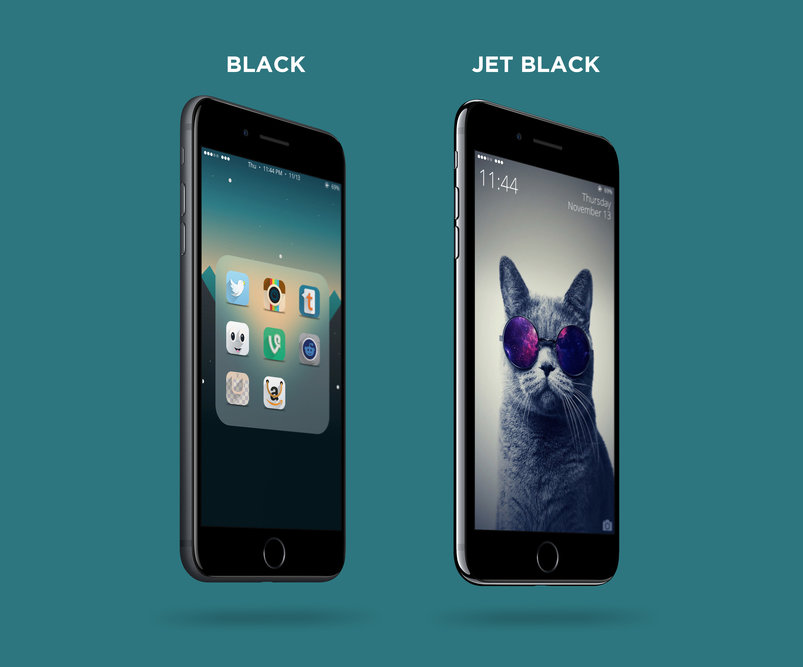 Free 4K Black & Jet Black iPhone 7 Plus PSD Mockup