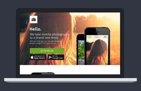 Website Template for Apps