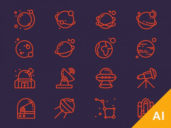 16 Space Icons