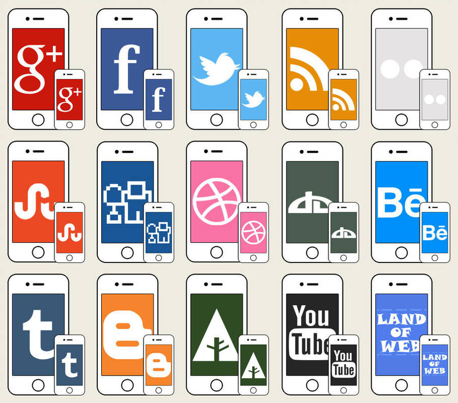 FREE iPhone social icons