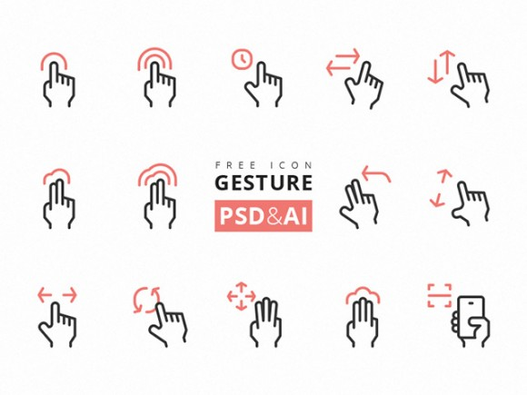 15 Gesture Icons