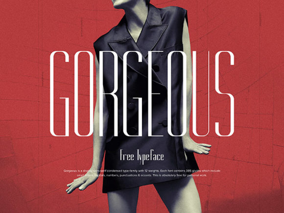 Free Gorgeous Typeface in 12 weights