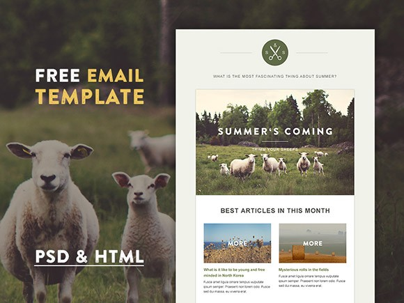 Green Village HTML Email Template