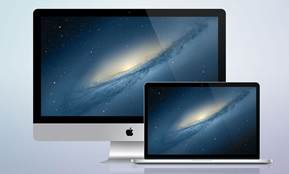 iMac and MacBook Retina Mockups