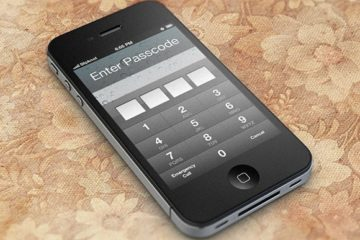 Free Download IOS Password Unlock Screen in PSD