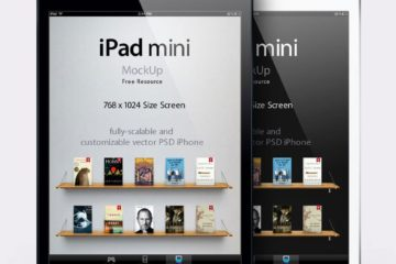 iPad Mini Vector Mockup