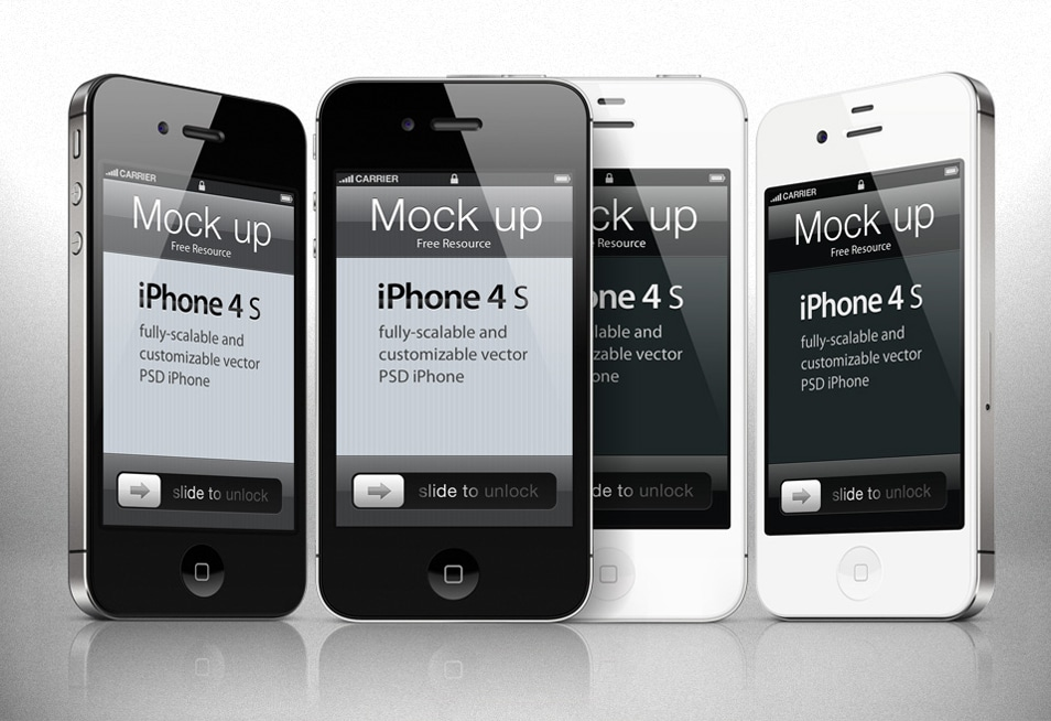 iPhone 4S Vector Template