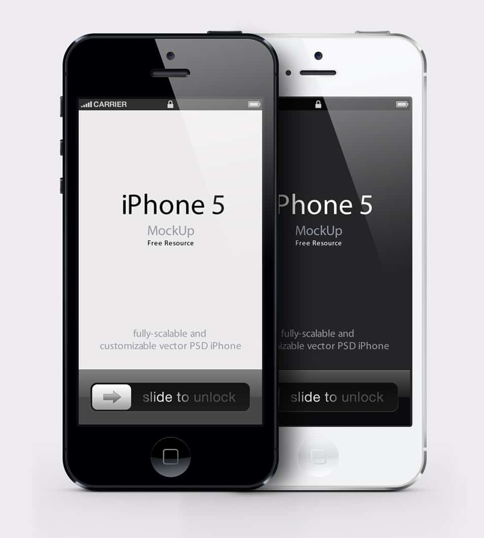 iPhone 5 Vector Mockup