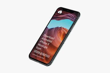 Download iPhone X Mockups at 4k Resolution