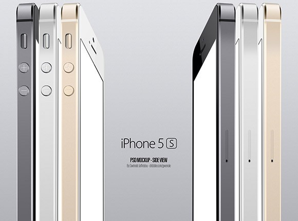 iPhone 5S Side View Mockup