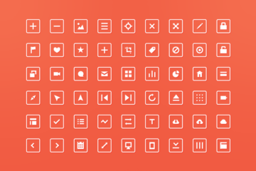 54 Squared Icons