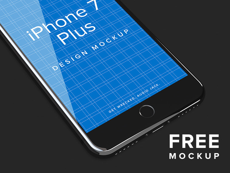 iPhone 7 Jet Black Design Mockup