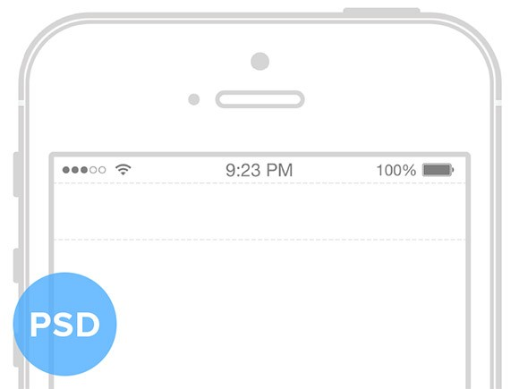 iPhone 5S Wireframe Mockup