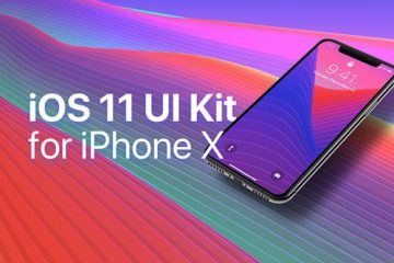 Free iOS 11 UI Kit for iPhone X
