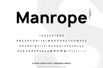 Download Manrope Sans-serif Typeface for Free