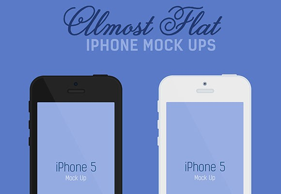 Almost Flat iPhone Mockups