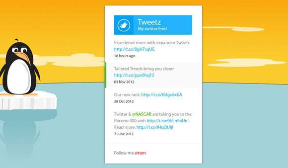 Grab This Metro Twitter Widget CSS + PSD for Free
