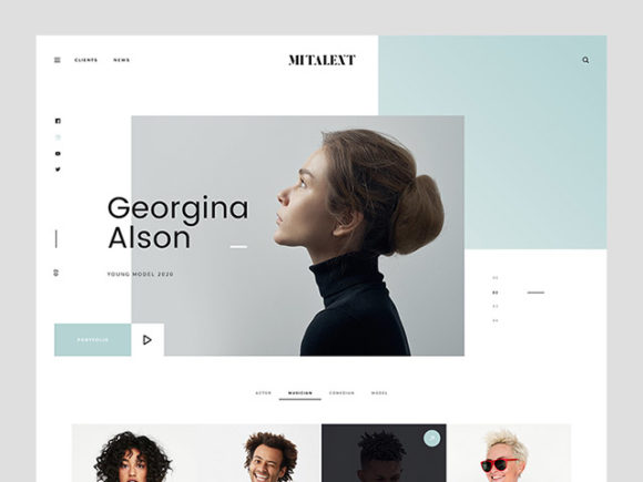 Get this Free MI Talent Website Template