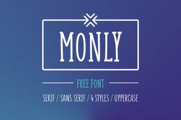Free Monly Font in 4 Styles
