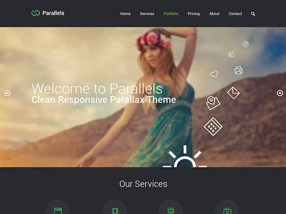 Parallels One Page Template