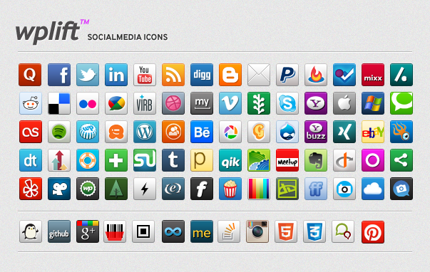 Freebie: 70 32px Custom Social Media & Website Icons