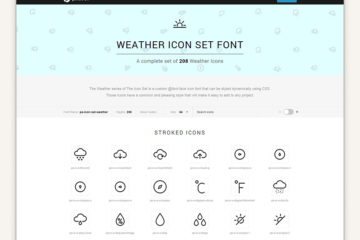 208 Weather Icons Webfont