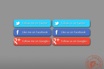 Get 3D Social Buttons For Free