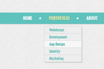CSS3 Retro Navigation Menu for Free