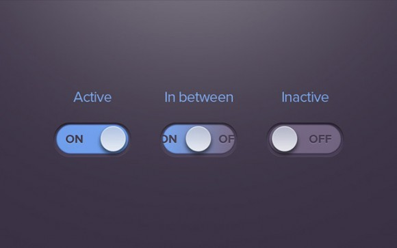 On/off Radio Button in PSD