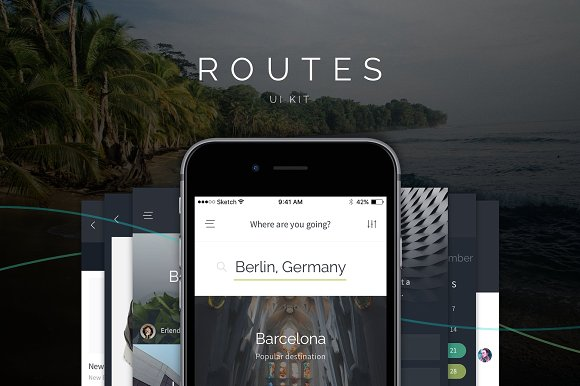 Get this Routes UI Kit for iOS