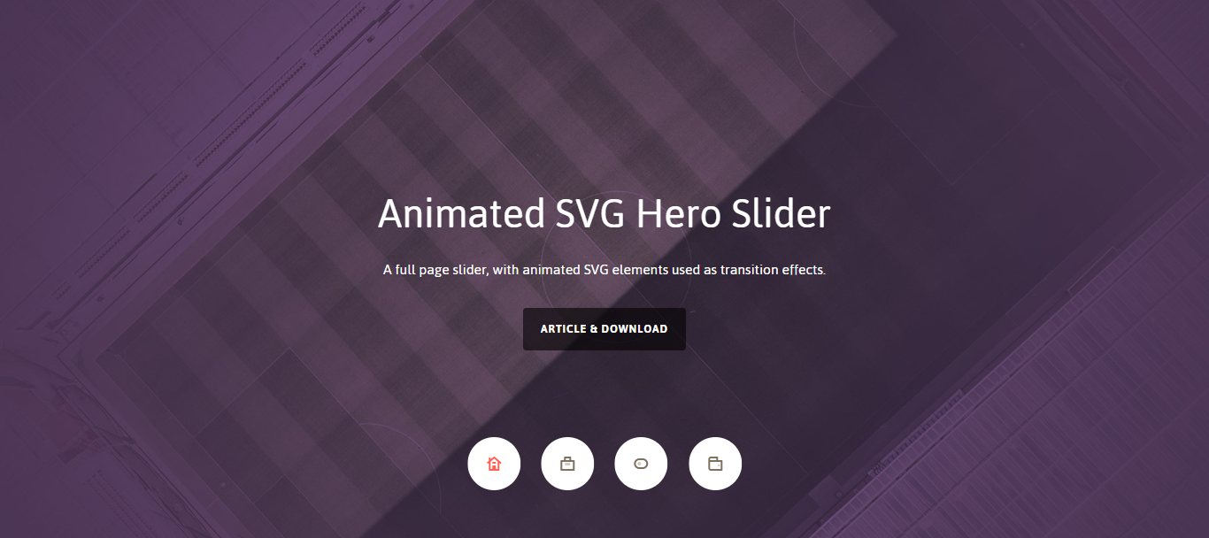 Hero Slider Animation with SVG