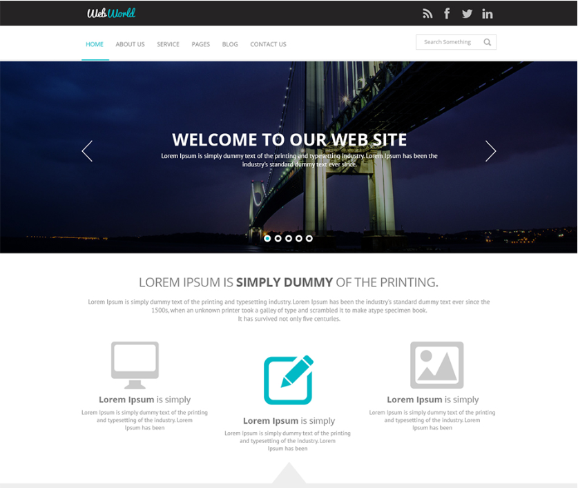 WebWorld Website Template