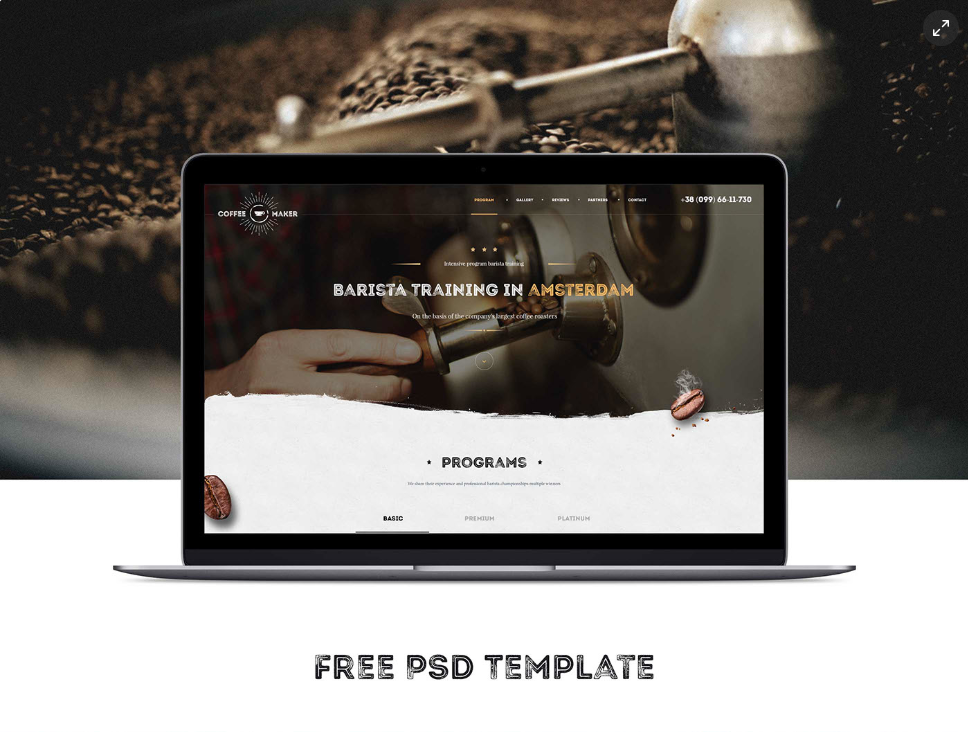 PSD Template Barista Course Coffee