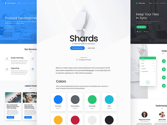 Free Shards UI Toolkit based on Bootstrap 4