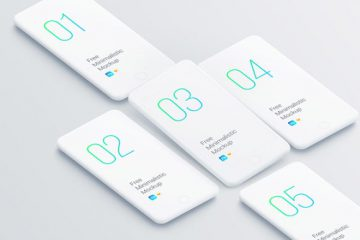Download Set of Smartphone Clay Mockups