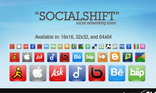 """SocialShift"" Icon Set"