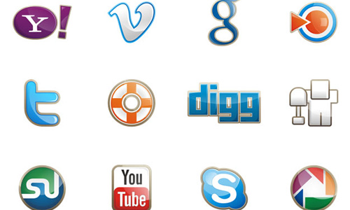 Freestyle and Square, Two Free Social Media Icon Sets