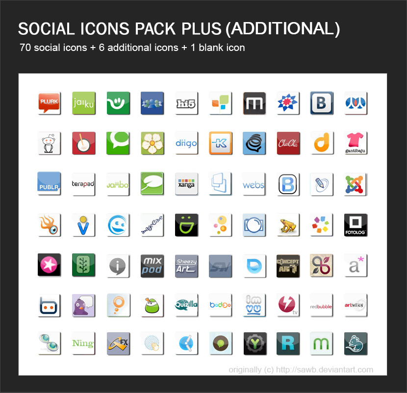 Social Icons Pack + II