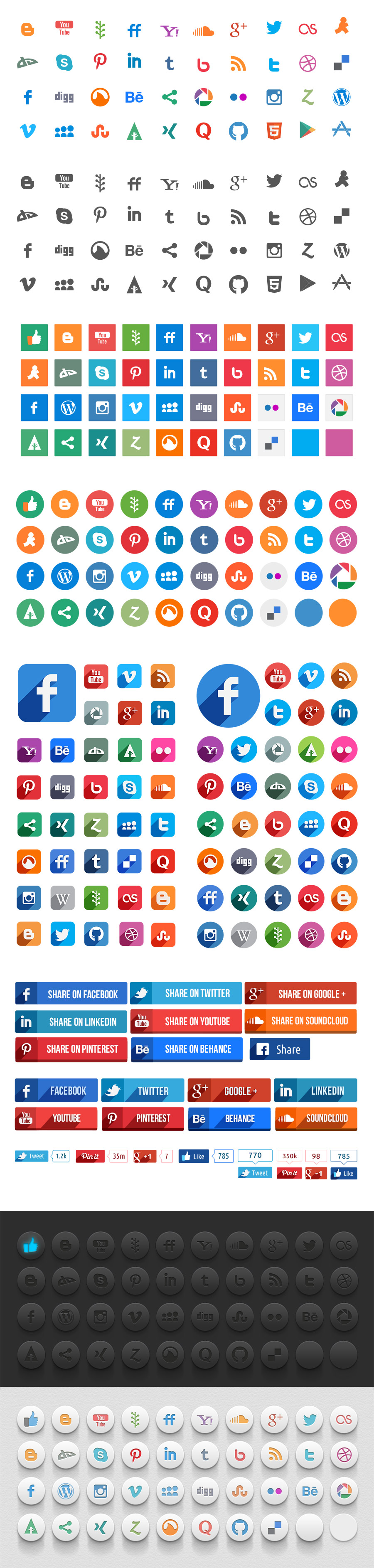 Tonicons Free Social Media Icons